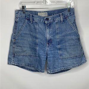 Abercrombie & Fitch Vintage Denim Shorts Size 8